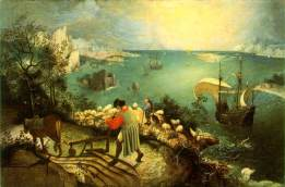Pieter Bruegel the Elder, The Fall of Icarus, 1560s, oil on canvas