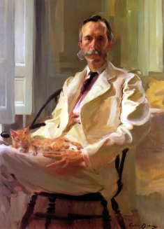 Cecilia Beaux, Man with a Cat