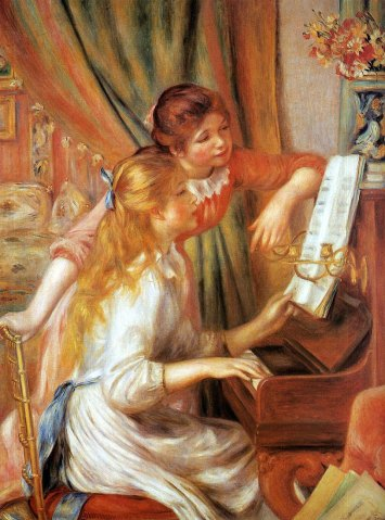 Renoir, Young Girls at a Piano